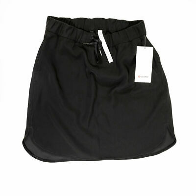 $ CDN95.51 • Buy NEW Lululemon Women's Solid Black On The Fly Midi Athletic Work Out Skirt 10
