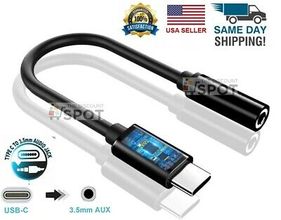 $3.99 • Buy New USB C To 3.5mm AUX Headphone Adapter Type C Jack For Android Black