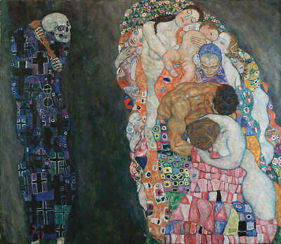 $ CDN99.20 • Buy Gustav Klimt Death And Life Giclee Canvas Print Paintings Poster LARGE SIZE