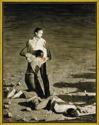 $ CDN93.99 • Buy Framed Norman Rockwell Murder In Mississippi Giclee Canvas Print Painting Poster