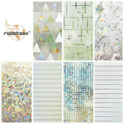 £8.99 • Buy Rabbitgoo Window Film Privacy Any Tint Stained Glass 3D Stickers Home Office