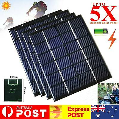 AU13.99 • Buy 6V 2W Mini Solar Panel 330mA Mobile Phone Battery Charging Home Outdoor Control