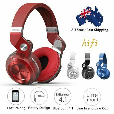 AU19.90 • Buy Bluedio T2S Wireless Headphones Bluetooth 4.1 Stereo Headsets With Mic AU