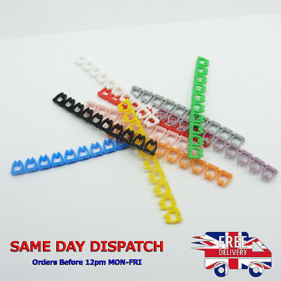 £5.04 • Buy Cable Markers X 100 Colourful C-Type FTP UTP Marker Number Tag Label 4-6mm Cat5