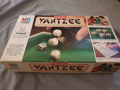 Vintage YAHTZEE 5 Dice BOARD GAME Original 1982 Issue MB Games 8+ • 12.20£