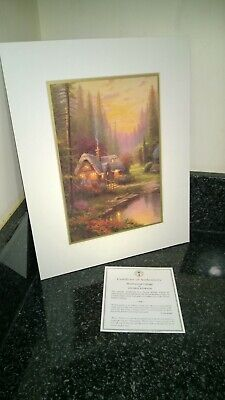 £29.99 • Buy Thomas KinKade Matted Print Meadwood Cottage With Certificate  11 X 14 Inches