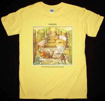 Genesis Selling England By The Pound 1973 Yellow T Shirt Progressive Rock • 12.95£