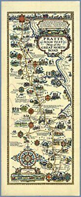 £13.95 • Buy Pratts 1930 Esso Wall Map Poster Of The Great North Road 33 X 80 Cm Laminated
