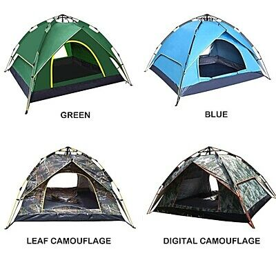 £46.50 • Buy Pop Up Camping Tent 2 3 4 Person Family Automatic Double Layer Festive Fishing