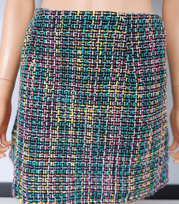 Primark Knitted Tweed Skirt Size 38 Uk 10 Bnwts Women's • 5.18£