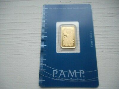 $ CDN522.39 • Buy 5 Gram Gold Bar PAMP Card Sealed W S# & Certificate # Suisse Lady Fortuna
