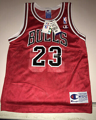 AU192.46 • Buy Vintage 90s Michael Jordan Bulls Replica Un Signed Jersey New With Tags Y Med