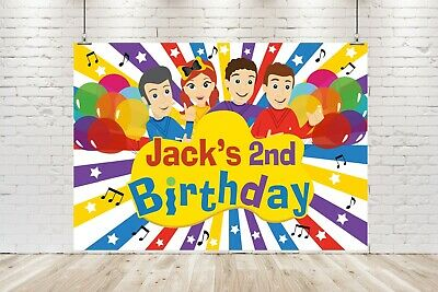 AU20 • Buy Personalised Wiggles Banner / Backdrop Birthday Poster 1st 2nd 3rd 4th Ect