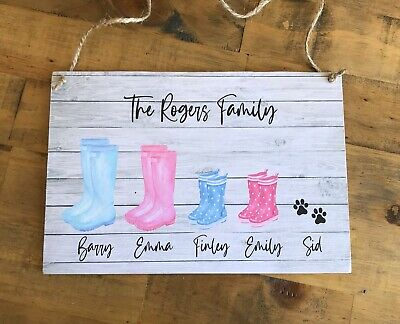Family Plaque Home Gift Idea New House Warming Sign Shabby Chic Personalised  • 6.99£