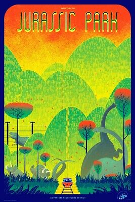 £431.13 • Buy Jurassic Park By Kevin Tong - Rare Sold Out Mondo Print