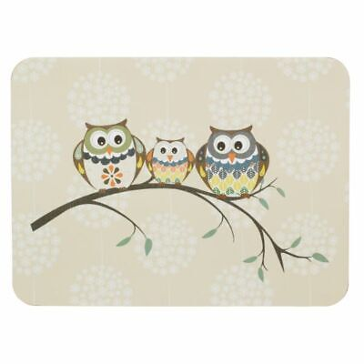 £19.99 • Buy Set Of 6 Place-mat And Coaster Owl Design Dining Table Mats Drinks