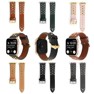 AU18.59 • Buy Apple Watch Band Series 6 5 4 3 2 1 Strap Leather For IWatch 38/40mm 42/44mm