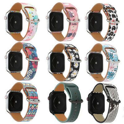 AU18.99 • Buy Genuine Leather Apple Watch Band Strap IWatch Series SE 6 5 4 3 2 40 44mm Wrist