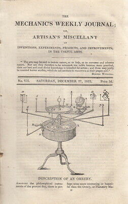 Description Of An Orrery; The Common Mode Of Ascertaining The Power Of Steam Eng • 14.99£