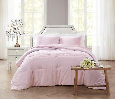 $ CDN189.89 • Buy Shabby Chic Eyelet Comforter Set Rachel Ashwell Double / Queen
