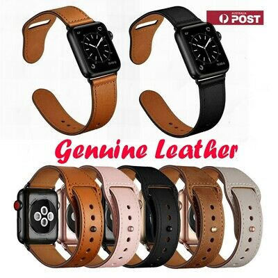 AU17.99 • Buy Genuine Leather Apple Watch Band Series 6 5 4 3 2 SE Strap IWatch 38/40 42/44mm