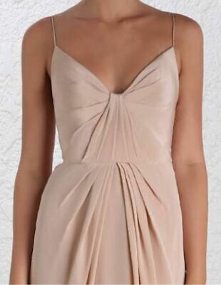 AU130 • Buy Zimmerman - Folded Dress -  Size 3 Dusty Pink - RRP 495.00