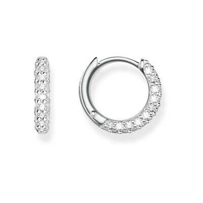 AU26.50 • Buy White CZ Pave Earrings S925 Sterling Silver By Charm Heaven NEW