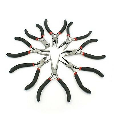 Jewellery Making Pliers / Wire Cutters Carbon Steel Bent Notes Flat Nose Needle • 3.79£