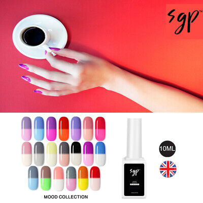 10ML Nail Gel Polish BY SGP Soak Off UV LED Colour Changing Varnish UK SELLER • 4.99£