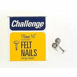 Felt - Extra Large - Head Clout Nails - Galvanised (box Pack), 15mm • 3.47£