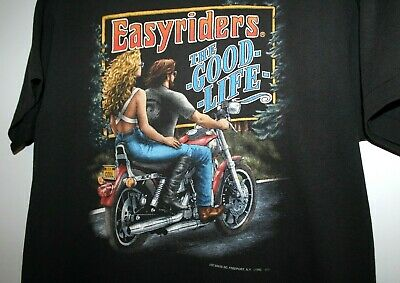 $ CDN299.99 • Buy Vintage 3d Emblem Just Brass EASYRIDERS Harley Shirt THE GOOD LIFE  FITS MED