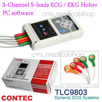 £200 • Buy CONTEC 3 Channels ECG/EKG Holter Monitor System,Dynamic ECG System,PC Software