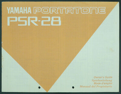 AU31.59 • Buy Yamaha PSR-28 Portatone Original Keyboard Manual/Owners Manual