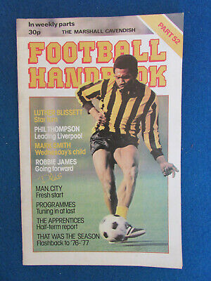 The Marshall Cavendish Football Handbook - Part 52 - 1979 • 2.99£