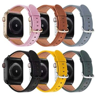 AU18.99 • Buy Genuine Leather Apple Watch Band Strap IWatch Series SE 6 5 4 3 2 1 44 42 40 38