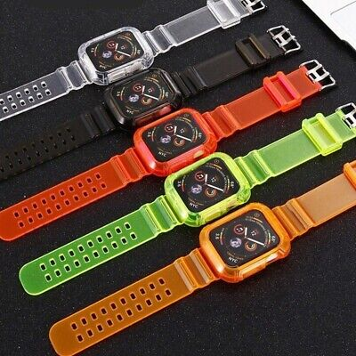 AU16.99 • Buy Silicone Apple Watch Band Sports Strap+Cover IWatch Series SE 6 5 4 3 2 1 40/44