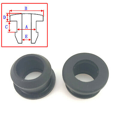 AU16.65 • Buy Black Silicone Rubber Snap-on Grommet End Caps Inserts Plug Wire Wiring Protect