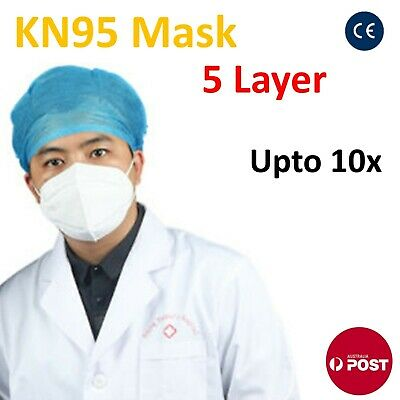 AU13.39 • Buy N95 KN95 Mask Disposable Masks Reusable Face Filter Anti Dust Respirator Upto10x