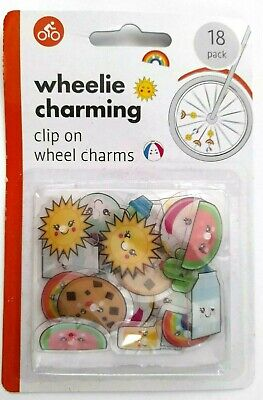 KIDS BIKE WHEEL SPOKE Charm Beads Spokey Dokeys Clip On Bicycle (18 PACK) UK • 2.99£