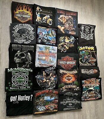 $ CDN782.04 • Buy Vintage Harley Davidson T Shirts 90s 00s Tees Mens Size XXL Lot Of 19