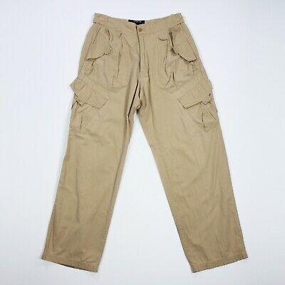 £43.15 • Buy Diesel Style Lab Mens Beige Buttoned Straight Leg Military Cargo Pants Sz 34