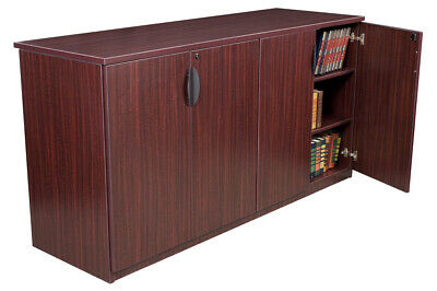 $850 • Buy OFFICE CREDENZA CABINET, 72  Storage Cabinet, Mahogany, Cherry Or Ash Grey *NEW*