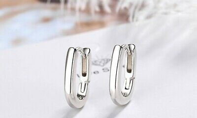 AU25.50 • Buy Hoop Earrings S925 Sterling Silver By Pandora's Kings NEW