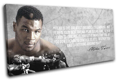 Boxing Quote Iron Mike Tyson Sports SINGLE CANVAS WALL ART Picture Print • 29.99£