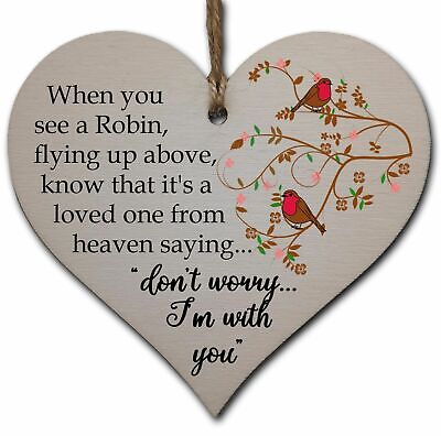 £3.49 • Buy Handmade Wooden Hanging Heart Plaque Gift To Remember Lost Loved Ones