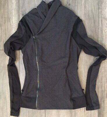 $ CDN67.99 • Buy Lululemon Bhakti Jacket Sz 6 Luon Pique Black Dark Slate / Black RARE