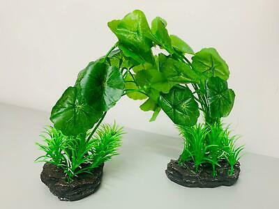 2 Pcs  Aquarium Plastic Plants Tropical Fish Tank Artificial Aquatic  • 6.99£