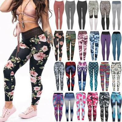 AU23.98 • Buy Womens High Waisted Yoga Pants Sports Fitness Gym Jogging Leggings Trousers T84