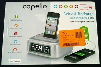 AU24.91 • Buy Capello Relax & Recharge Docking Alarm Clock IPhone IPod Charger - Nature Sounds