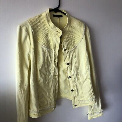 AU28 • Buy Kenzo Jeans Women's Denim Style Yellow Jacket Size Medium 38